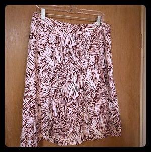 Merona Silk Abstract Print Skirt